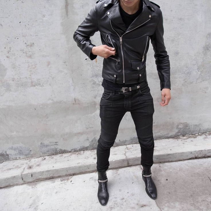 best men's black biker jackets