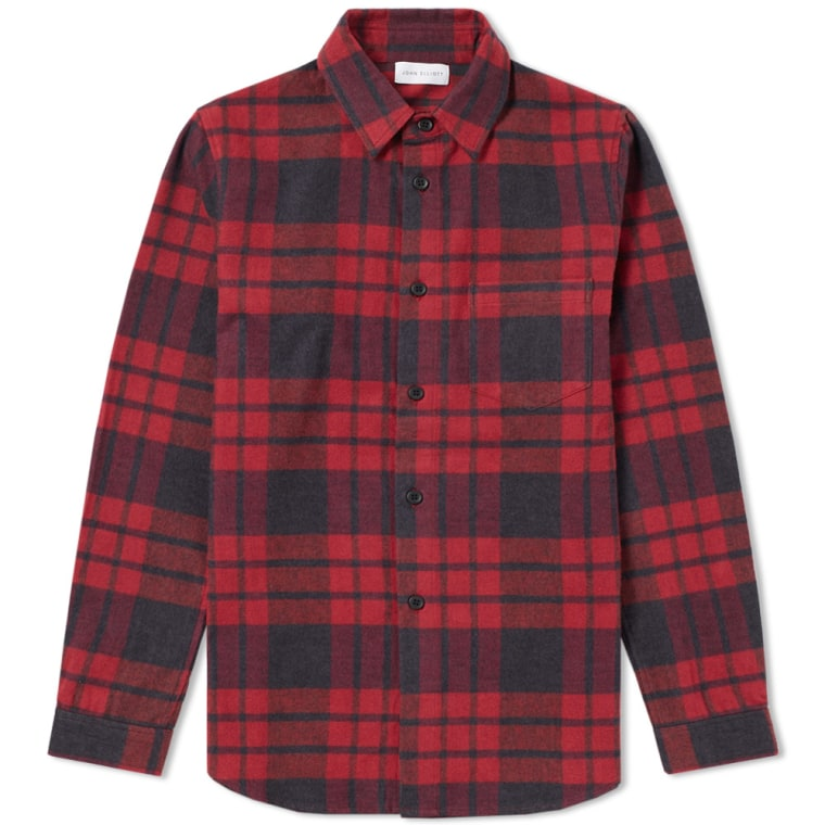 best men's red flannel shirts