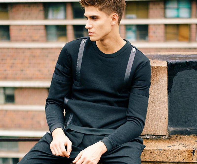 best men's black sweatshirts